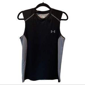 Under Armour Fitted V-Neck Black Sleeveless Top